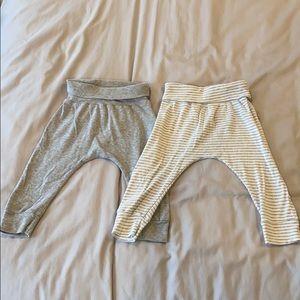 Giggle organic 2 pants bundle gray size 3-6 months